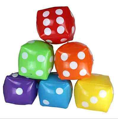 30cm Inflatable Dice Toy Blow Up Cube Casino Poker Pool Beach Party Decoration