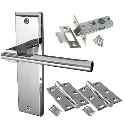 DELTA INTERNAL DOOR Handle Packs - Latch Lock Bathroom Chrome Door ...