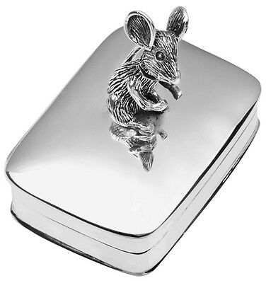 Moving Mouse Pillbox Sterling Silver 925 Hallmarked New From Ari D Norman