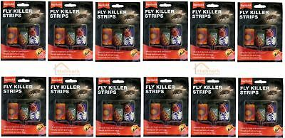12 x Rentokil Attractive Odour Free Fly Killer Strips Pack Of 3