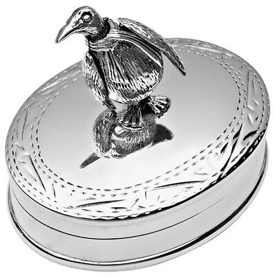 Moving Penguin Pillbox Sterling Silver 925 Hallmarked New From Ari D Norman