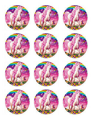 12 Horse Edible Icing Cupcake Cup Cake Toppers Decoration Images Party