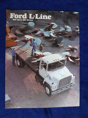 Ford F-Line Trucks Heavy Duty 600 Thru 880 Series Sales Brochure