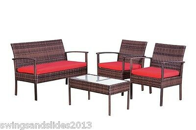 Garden Rattan Set Table Chairs Outdoor Patio Conservatory