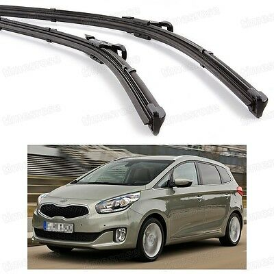 2Pcs Car Front Windshield Wiper Blade Bracketless New for KIA Carens 2013-2016