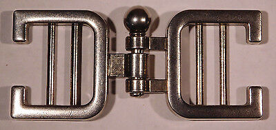 Vintage Metal Pin Clasp Belt Buckle - Metal, Mid-1970s, Industrial, Punk