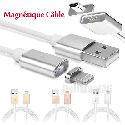 1M Magnétique USB charging Câble Chargeur Pour iPhone Android Samsung Micro USB