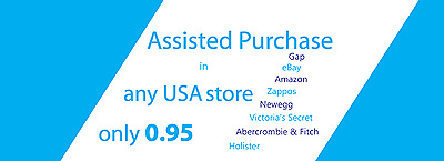Buy For Me in USA, Assisted Purchase,ONLY 1.95  Personal Shopper forwarding USA
