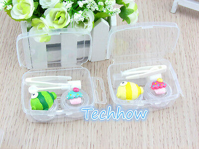 Cartoon Mini Contact Lens Case- FISH & CAKE Travel Box High Quality