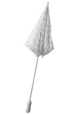 Brand New Victorian Lace Parasol Umbrella Costume Accessory (White)