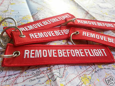 ** Remove Before Flight **  Portachiavi Keychain Keyring Key Tag - High Quality