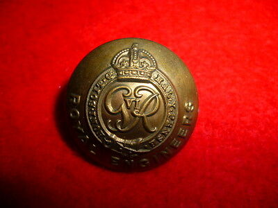 """The Royal Engineers George VI, WW2 Button, 1"""" dia."""