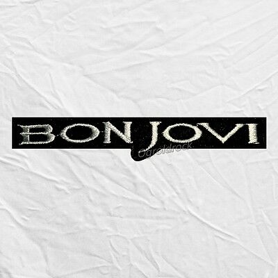 Bon Jovi Word Logo Embroidered Patch Rock Band Jon John Richie Sambora
