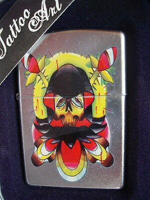 Voodoo Zippo Tattoo Art Reaper Grim Ink Collector Lighter Sealed Nib 05