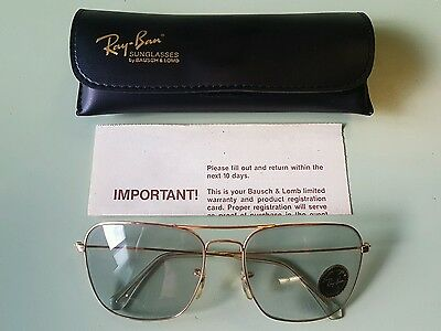 Ray Ban Vintage Caravan Changeable Lenses Nos New Condition 58mm Very Rare! VTG