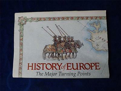 History Of Europe The Major Turning Points Map National Geographic Society 1983