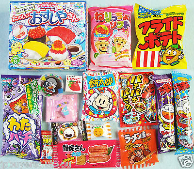 16 PCS SET New JAPANESE CANDY Dagashi Lot Candy Kracie Popin Cookin Sushi Gift