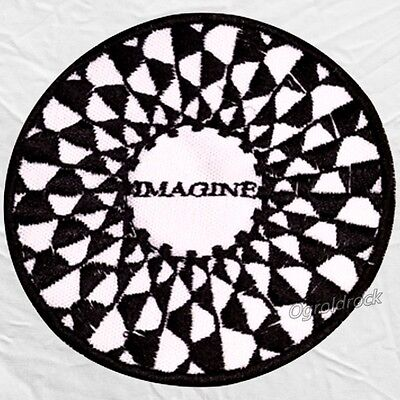Imagine Mosaic Logo Embroidered Patch John Lennon The Beatles Give Peace Chance