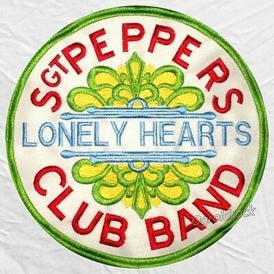 The Beatles Sgt Peppers Lonely Hearts Club Band Logo Embroidered Big Patch John
