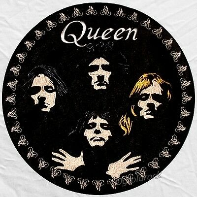Queen Patch Picture Embroidered Border Freddie Mercury Brian May Roger Taylor