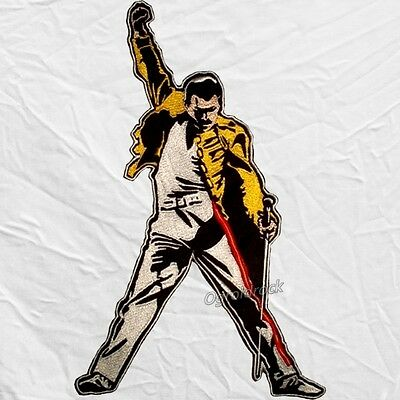 Queen Freddie Mercury Raising Hand Embroidered Big Patch Back Tribute Brian May