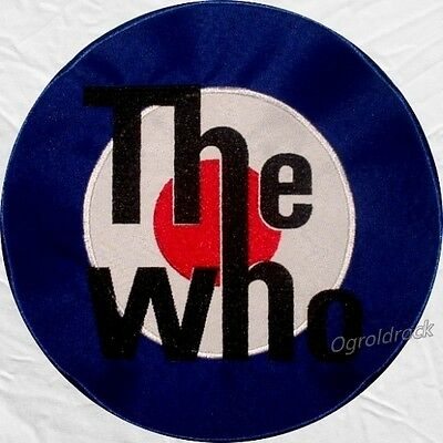 The Who Logo Embroidered Big Patch Pete Townshend Roger Daltrey Entwistle Back