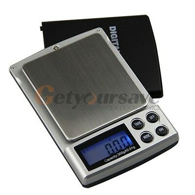 200g x 0.01g HD-16 Digital Pocket Scale for Jewelry/Gold/Weed with Cover Silver