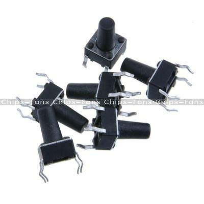 100PCS Tactile Push Button Switch Tact Switch 6X6X10mm 4-pin DIP top NEW
