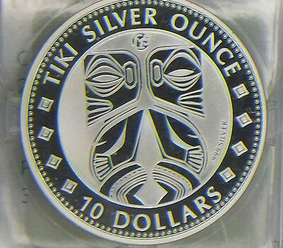f15 Privy 2012 Cook Islands Mythology of the Maori Tiki Silver Ounce Fabulous 15