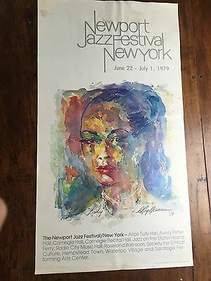 Bllie Holiday NewPort Jazz Festival in NYC by Leroy Neiman Original Poster 1979
