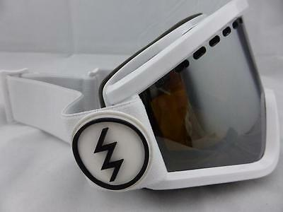 Electric EGV Snow Goggles Gloss White - Bronze/Silver Chrome + Yellow Lens