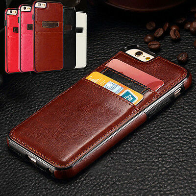 For iPhone 5 5S SE Leather Wallet Holster Card Slot Back Case Cover Ultra Thin