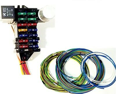 12 Circuit Universal Wire Harness Street Rod Rat Rod  US MADE - GXL WIRE
