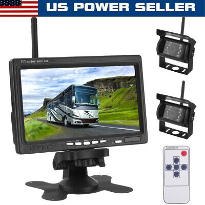 "4"" Dual Lens Car Camera DVR Video Dash Cam Audio Recorder 1080P Parking Monitor"