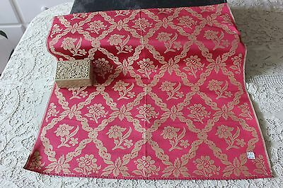 Lovely Antique French Lyon Silk Never Used Sample Fabric Textile c1870