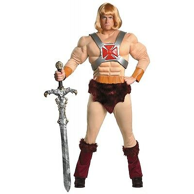 He-Man Costume Adult 80s Superhero Halloween Fancy Dress