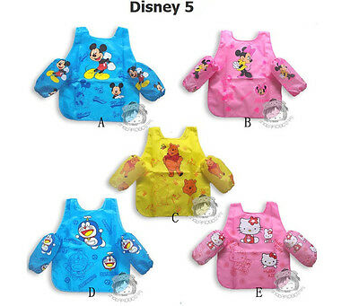 Disney  Kids Painting Clothes Art Paint Smock Apron Waterproof Top Cloth