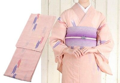Japanese Women's Traditional KIMONO for Summer ns42 Polyester 100% Japan #05