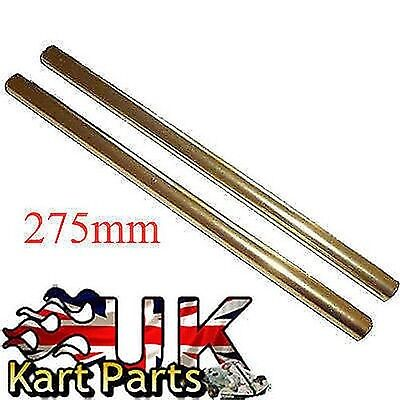 KART Pair of M8 x 275mm Gold Alloy Round Track Rods High Quality Best Price