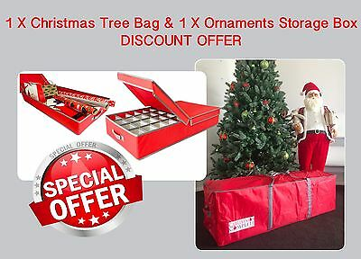 CHRISTMAS Tree Storage Bag & Ornaments Storage Box *** SPECIAL PAIR DEAL **