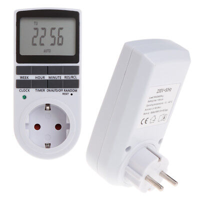 12/24H 7 Day LCD Digital Electronic Plug-in Programmable Timer Switch Socket EU
