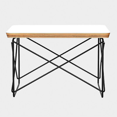 Eames LTR Style Low Side Coffee End Table White Top Black Wire FREE SHIPPING!