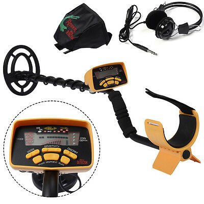 Metal Detector Device LCD Screen Treasure Deep Hunting Target W/Headphones&Cover