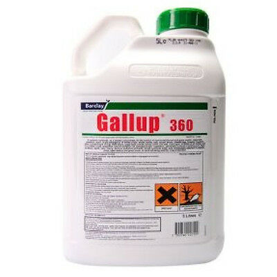 4 X 5L Gallup Amenity 360 Very Strong Professional Glyphosate Weedkiller