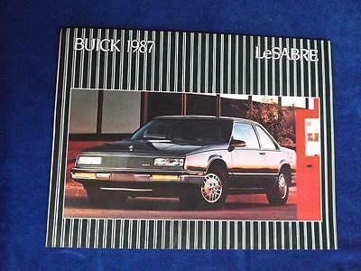 1987 Buick Lesabre Sales Brochure Flyer Gm Canada Official Olympic Sponsor