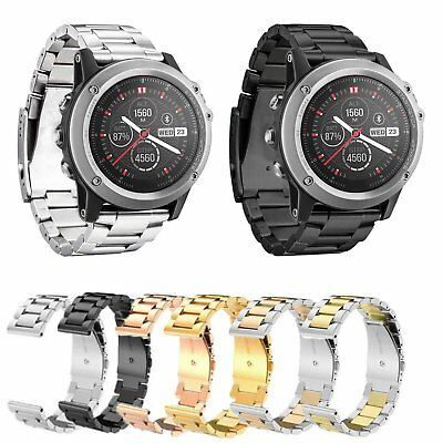 26mm Bracelet Metal Stainless Steel Band Strap For Garmin Fenix 3/HR GPS Watch