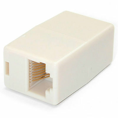 Cat5E RJ45 Modular Female - Female Coupler Adapter to Extend RJ45 Ethernet Cable