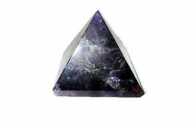 "Natural Amethyst Pyramid Approx. 1.25"" Earth Elements Reiki Symbol Pentacle"