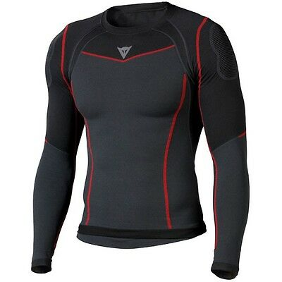Dainese Seamless Active Shirt Motorcycle Motorbike Base Layer Black / Anthracite