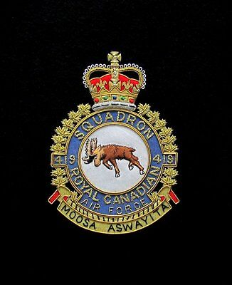 RCAF Royal Canadian Air Force 419 SQN Large Crest For Frame